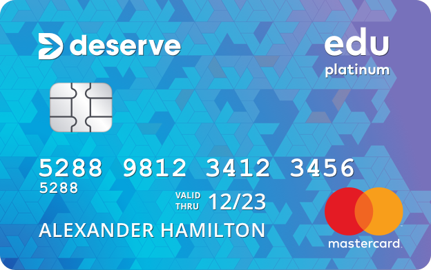 Graphic of Deserve Edu Mastercard for Students