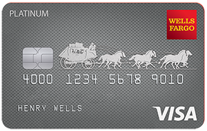 Graphic of Wells Fargo Platinum Visa card