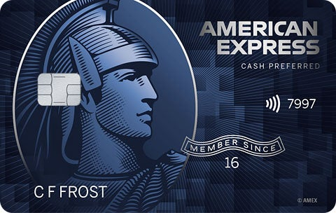 Graphic of Blue Cash Preferred® Card from American Express