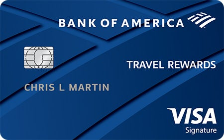 Graphic of Bank of America® Travel Rewards credit card