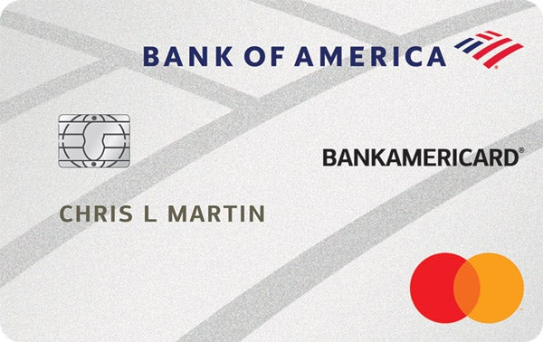 Graphic of BankAmericard® credit card