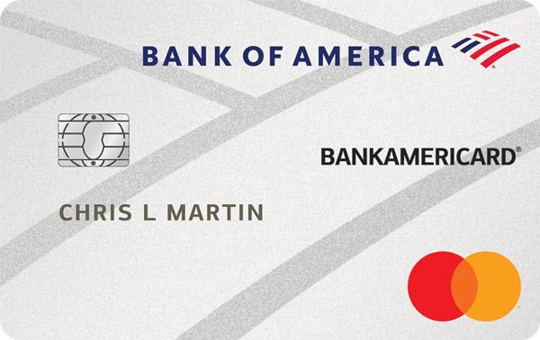 Graphic of BankAmericard® credit card