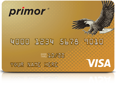 Graphic of Primor® Visa Gold Card by Green Dot