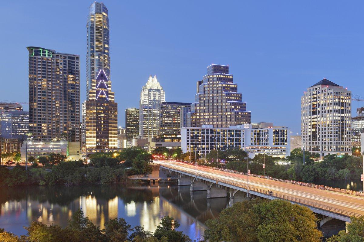 Austin skyline at night.