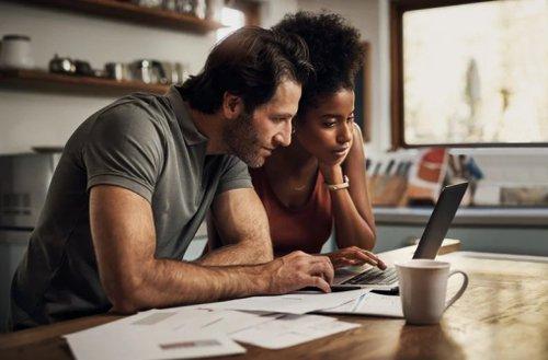 Couple Studying Laptop