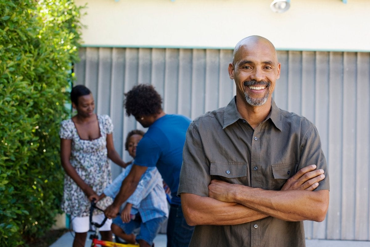 Smiling African-American man in his 50s