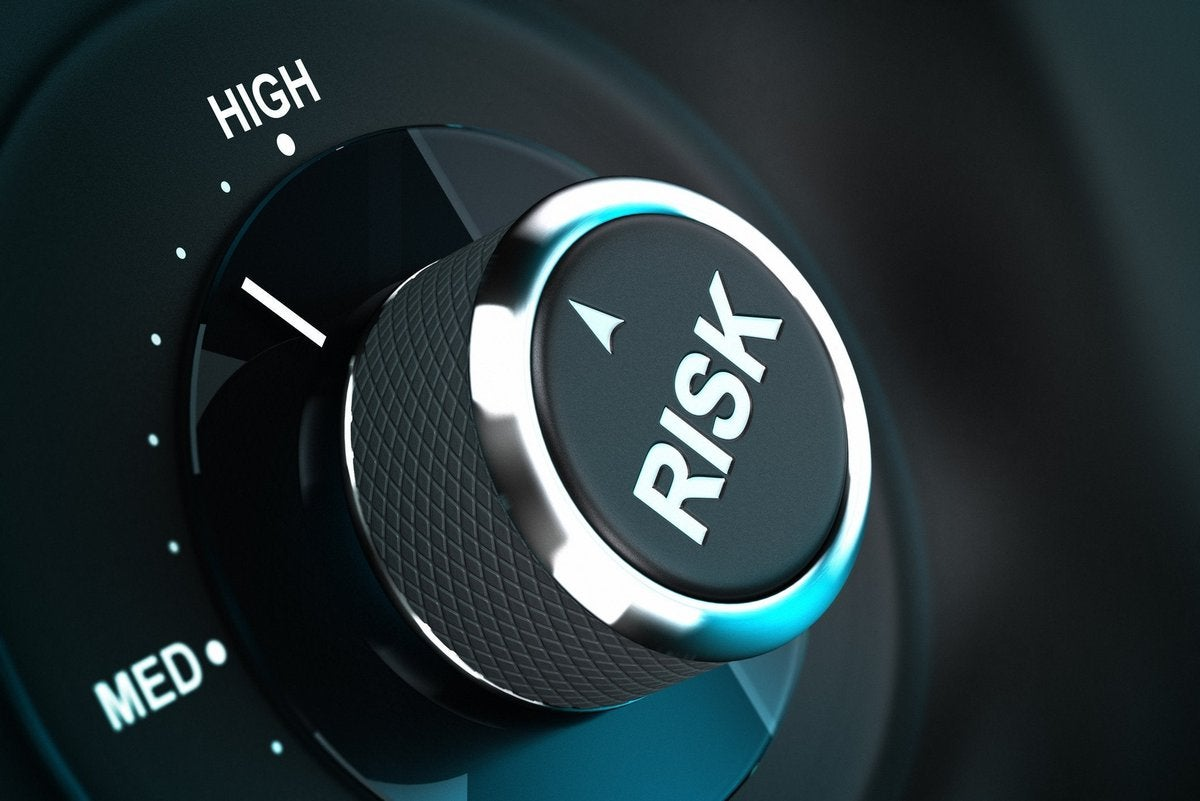 A dial labeled Risk and set on a high setting.