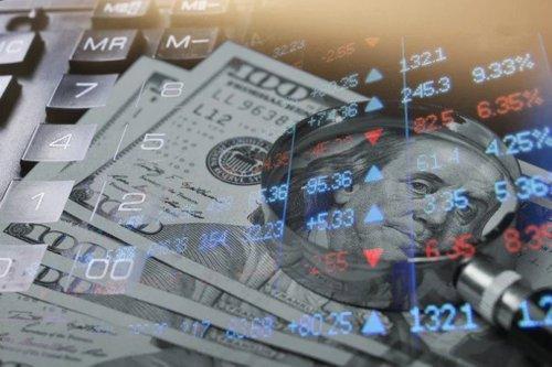 Hundred Bills And Stock Chart