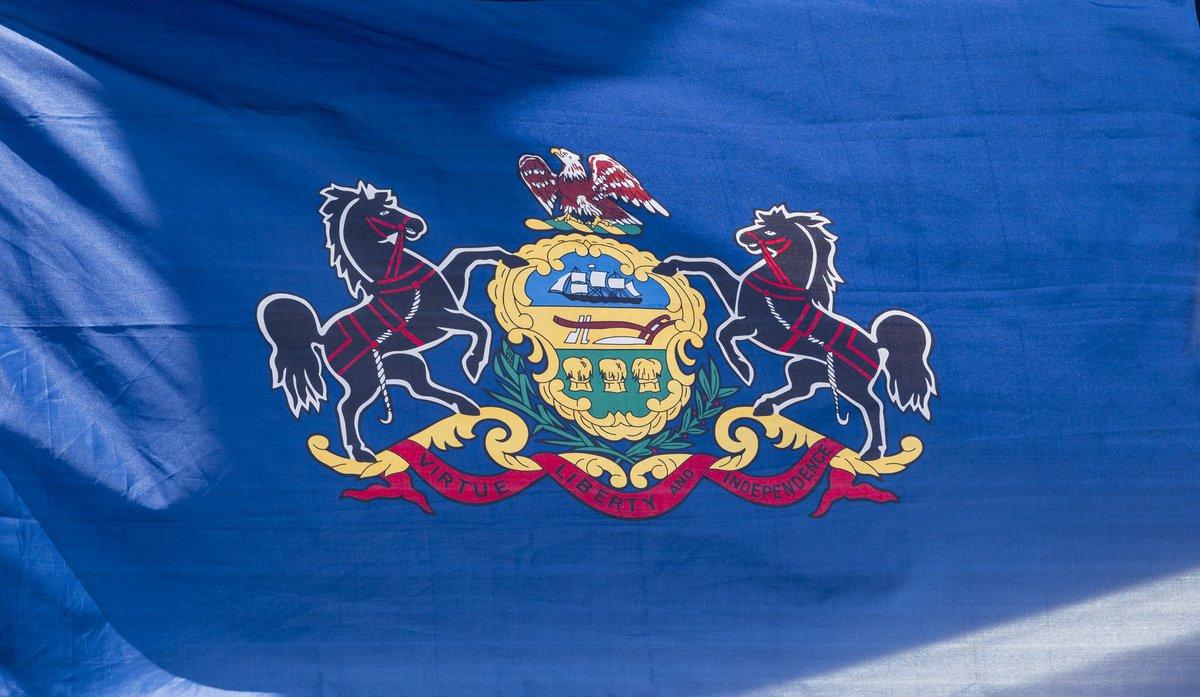 The Pennsylvania state flag.