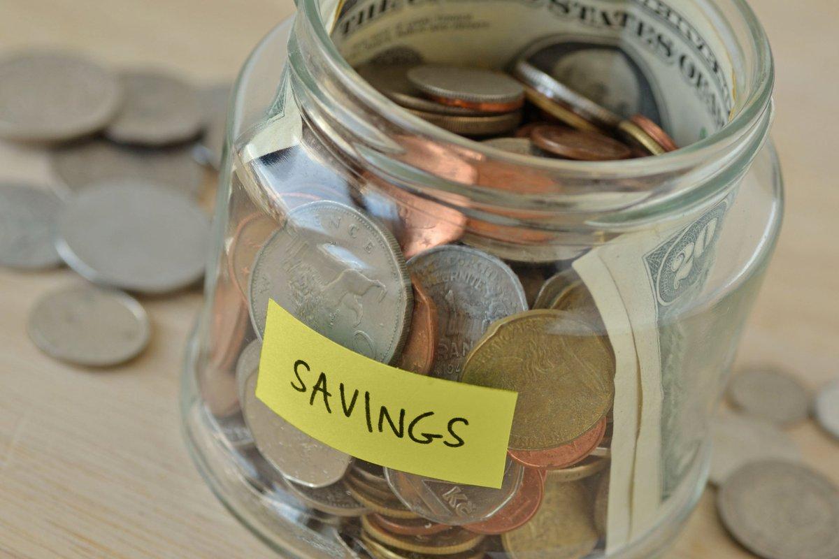 "Jar Of Money With ""Savings"" Label"
