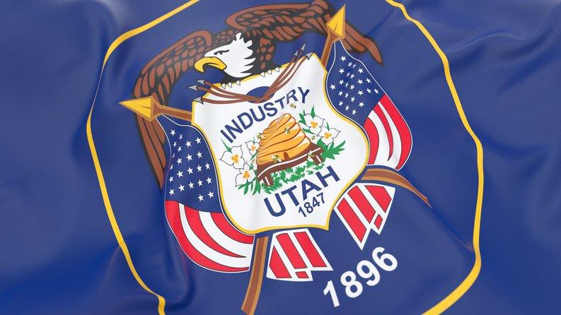 The Utah state flag.