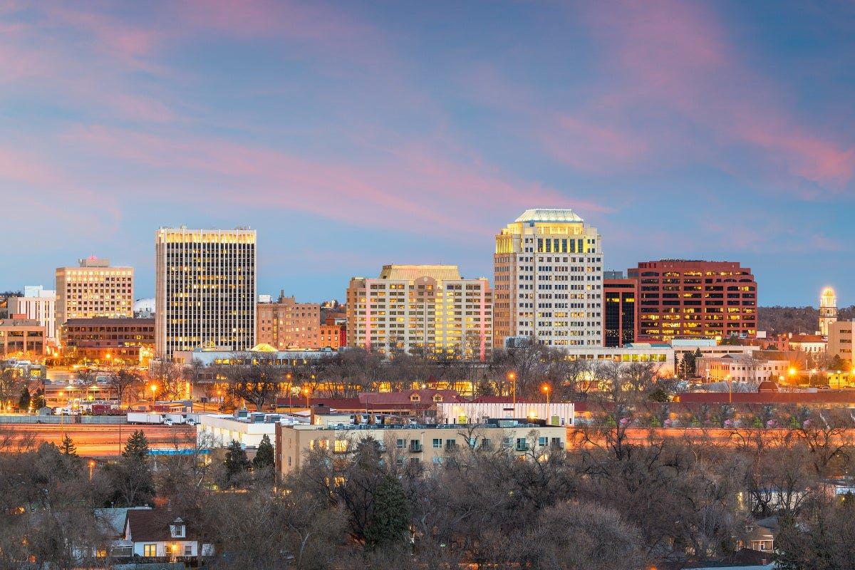 Downtown Colorado Springs, Colorado.
