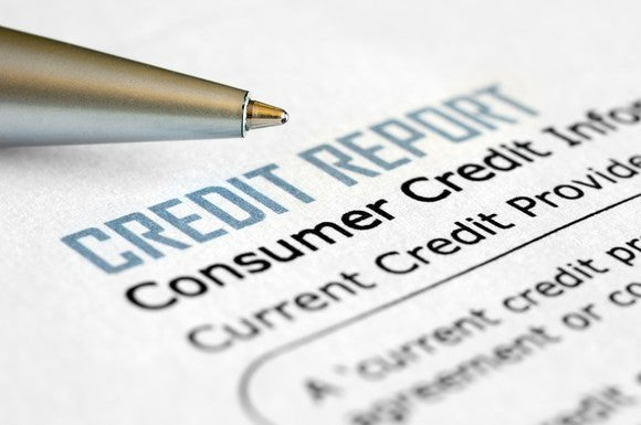 An example of a consumer credit report.