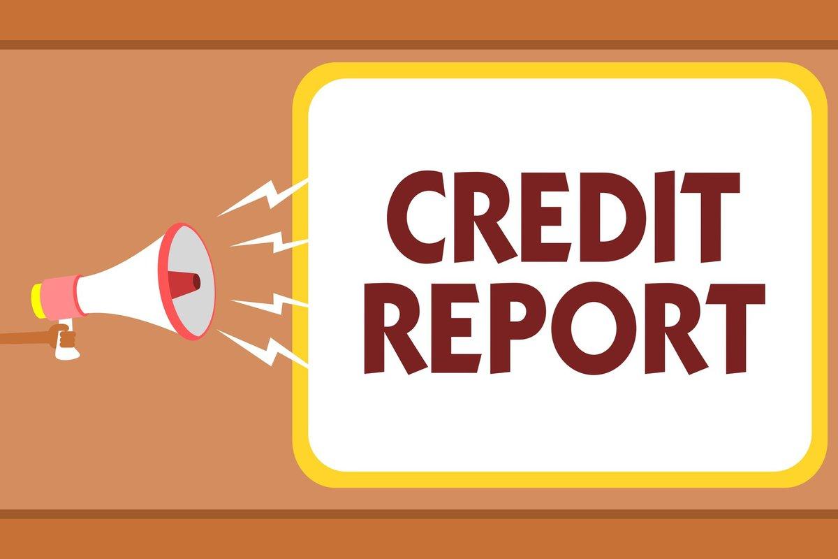 "megaphone and sign saying ""credit report"""