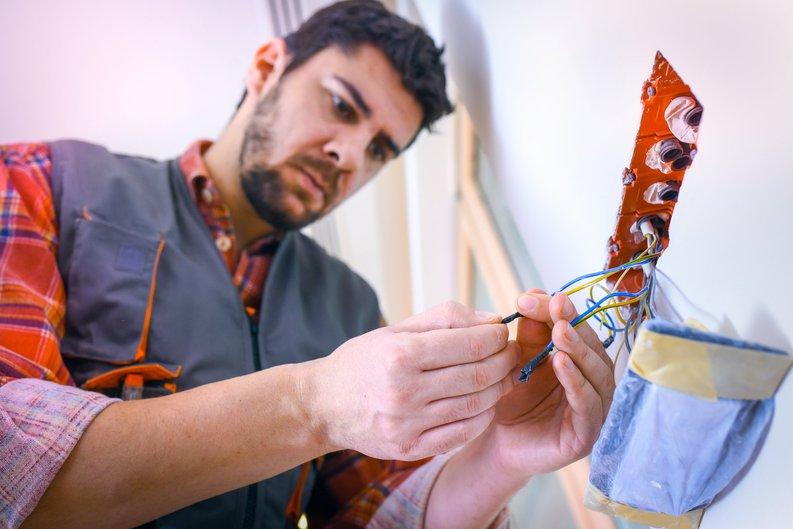 Man performing home repairs.