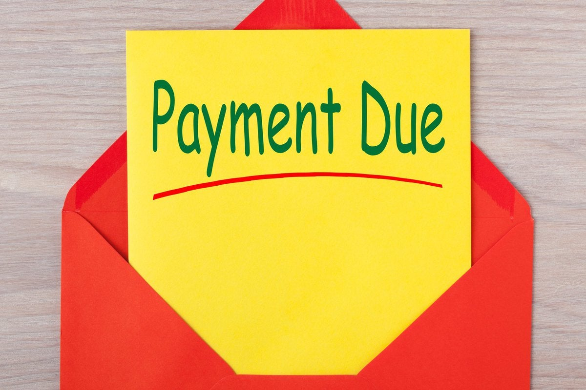 Payment due notice