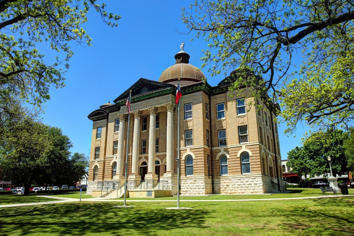 Courthouse in San Marcos, Texas.