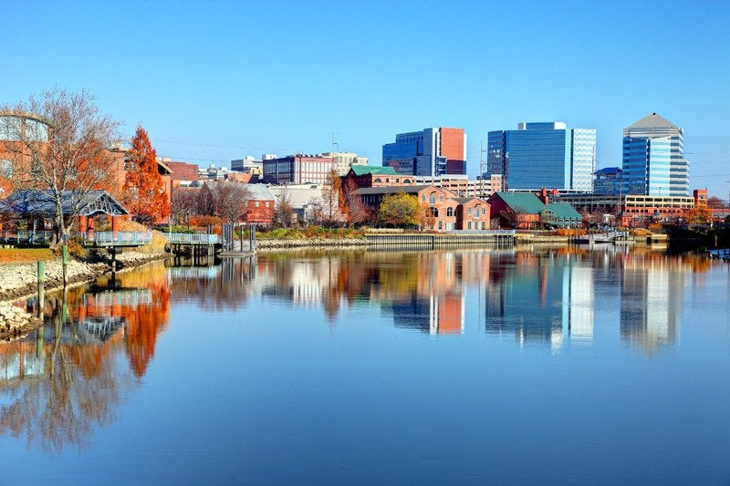 Wilmington, Delaware, from lake.