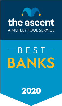 The Ascent's 2020 Bank and Bank Accounts Awards Winners award banner