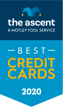 The Ascent's 2020 Credit Card Awards Winners award banner