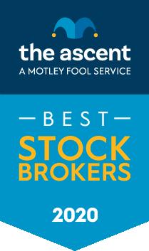 The Ascent's 2020 Stock Broker and Robo-Advisor Awards Winners award banner