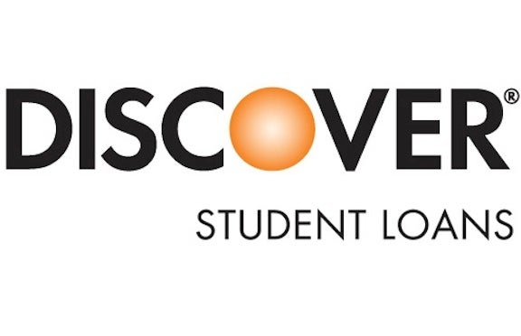 Logo for Discover student loan refinancing.