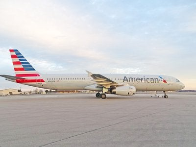 American Airlines plane on the runway
