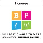 Washington Business Journal Best Places to Work Honoree 2015 badge