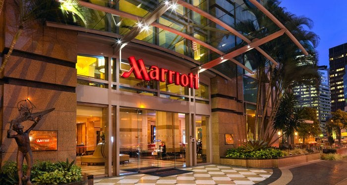 A Marriott hotel in Brisbane.