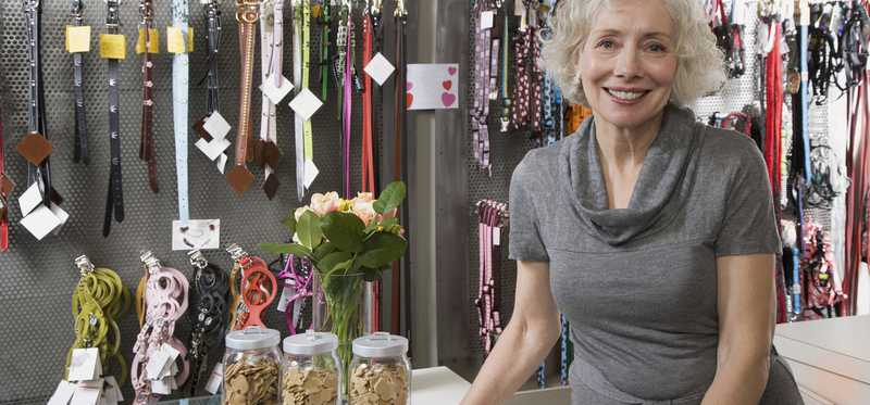 A female small business owner.