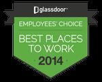 Glassdoor Best Place to Work 2014 winners badge