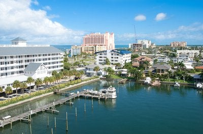 Aerial view of Clearwater, Florida