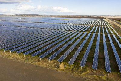 Large solar panel energy farm