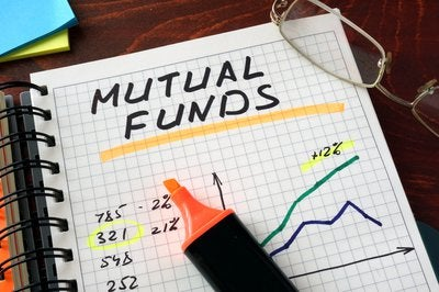 Notebook with mutual fund data.