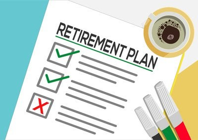 Cartoon of a Retirement Plan checklist.
