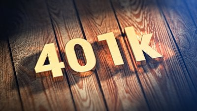 401k in gold letters.