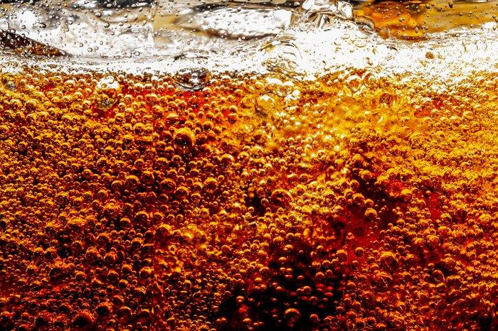 Brown soda carbonation bubbles