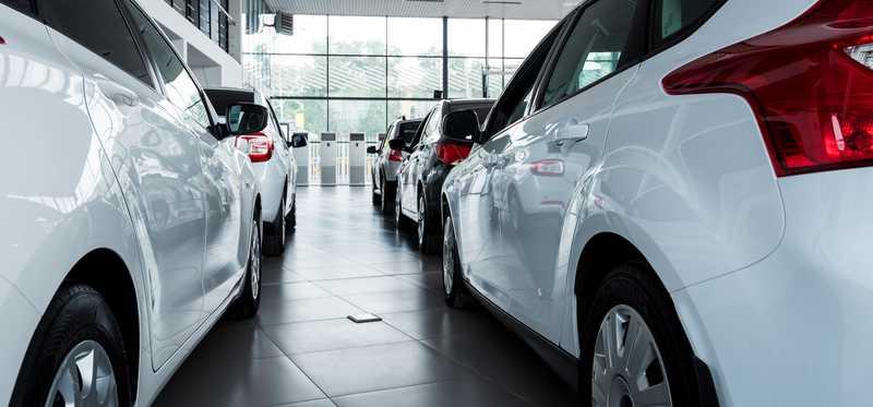 A row of cars