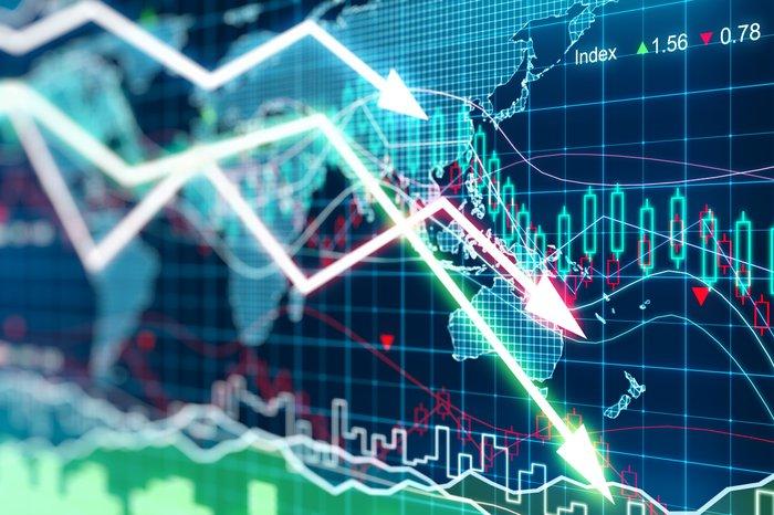 Financial markets crashing down