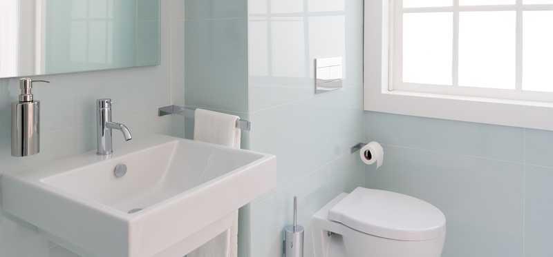 A newly remodeled bathroom.