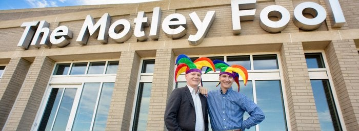Tom and David Gardner outside The Motley Fool office
