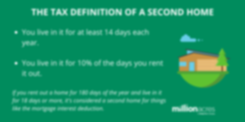 tax definition of a second home