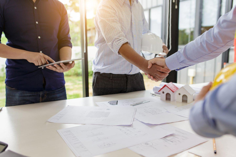Real estate deal handshake