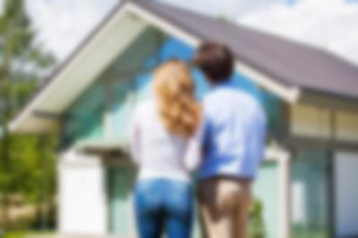 couple looking at a home
