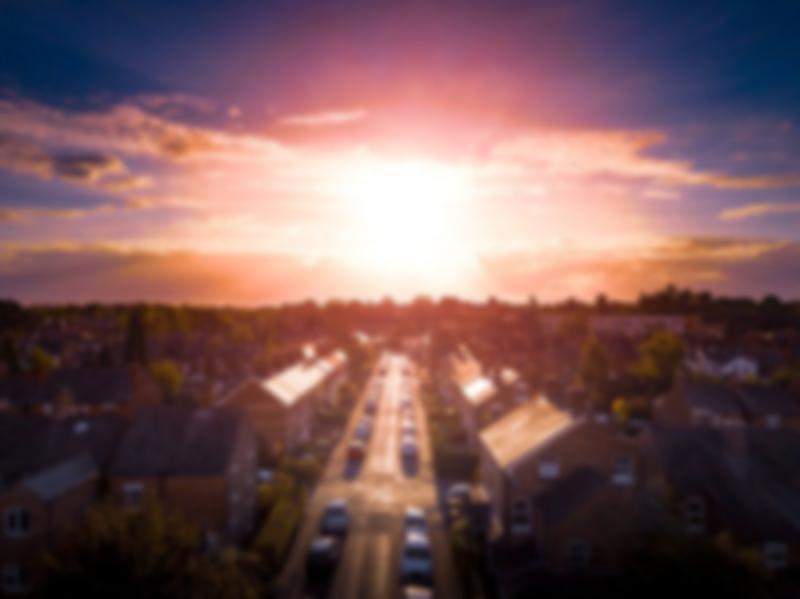 neighborhood at sunrise