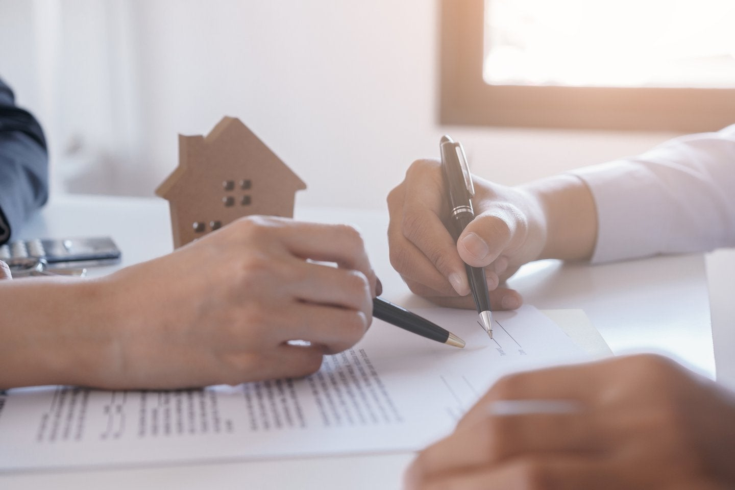 signing a loan document
