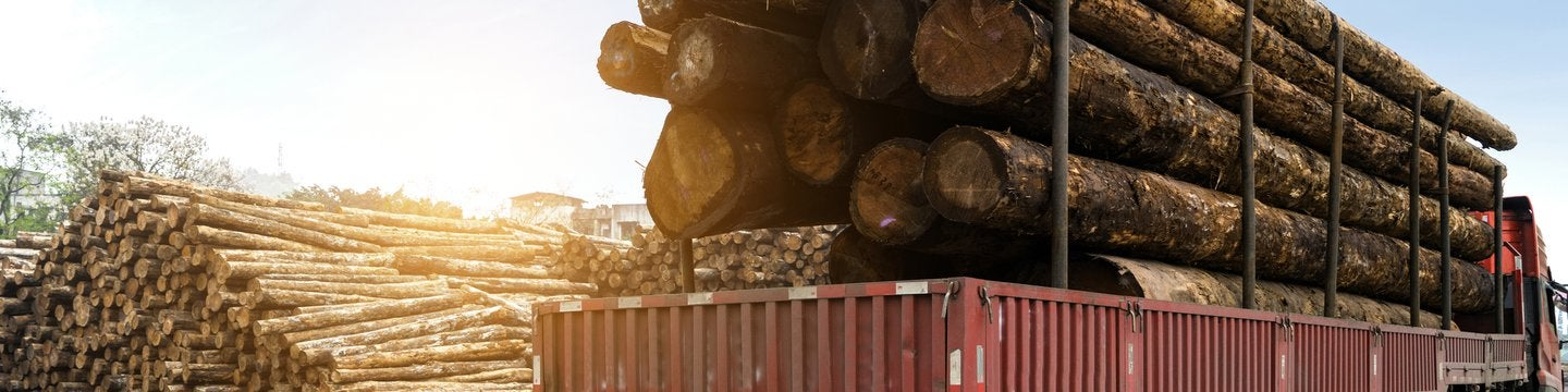 timber truck carrying wood