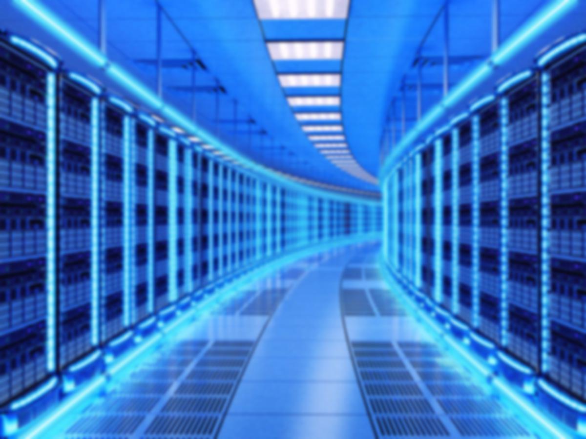 data center hallway