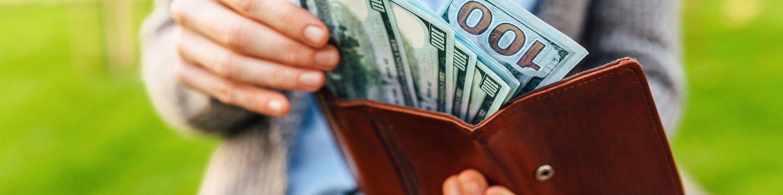 Money in Woman's Wallet
