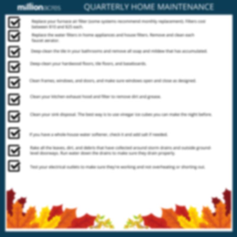 Quarterly Maintenance Checklist